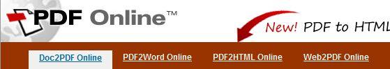 PDFOnline Convert to PDF Online!