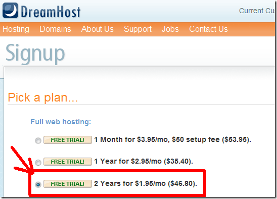 DreamHostcheapplan thumb How to Get Cheap DreamHost Plan @ $1.95/mo