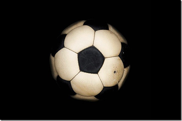 "The first ""Official"" ball ""Telstar"" in the World Cup-1970, Mexico."