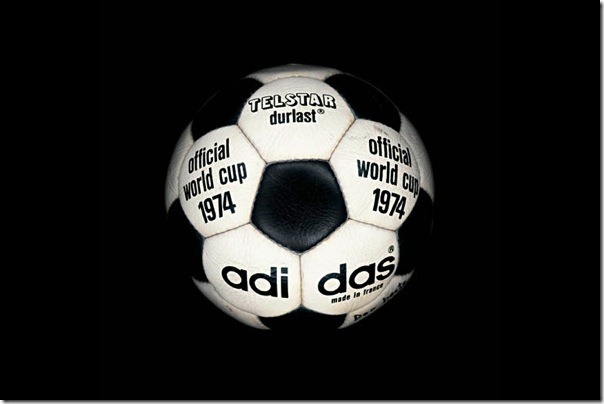 "The official soccer ball ""Telstar Durlast"" World Cup-1974, Germany."