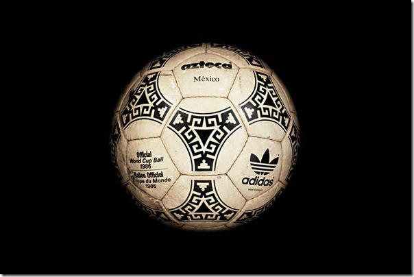 "The official soccer ball ""Azteco Mexico"" World Cup-1986, Mexico."
