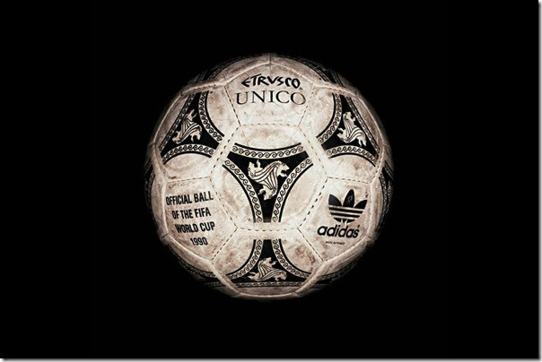 "The official soccer ball ""Etrusco Unico"" World Cup-1990, Italy."