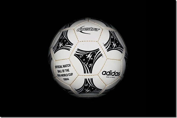 "The official soccer ball ""Questra"" World Cup-1994, USA."