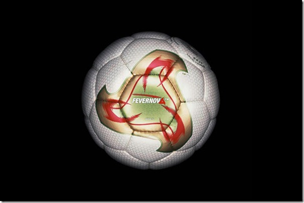 "The official soccer ball ""Fevernova"" World Cup 2002 in South Korea and Japan."