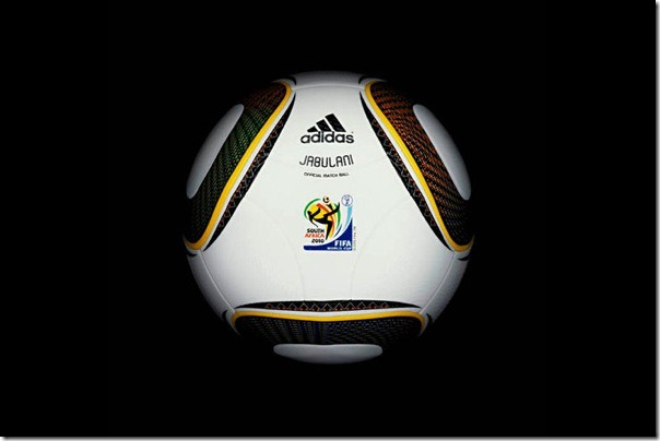 "The official soccer ball ""Jabulani"" World Cup 2010, South Africa ."