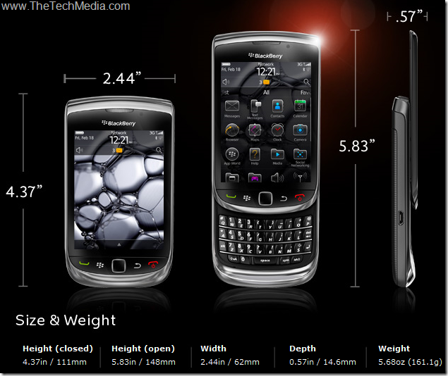 BlackBerry-Torch-9800-Specifications