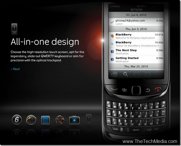 Blackberry-torch-9800-All in One Design