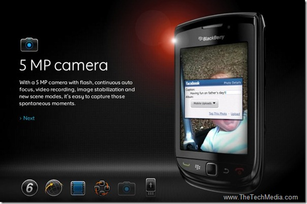 Blackberry-torch-9800 5MP camera
