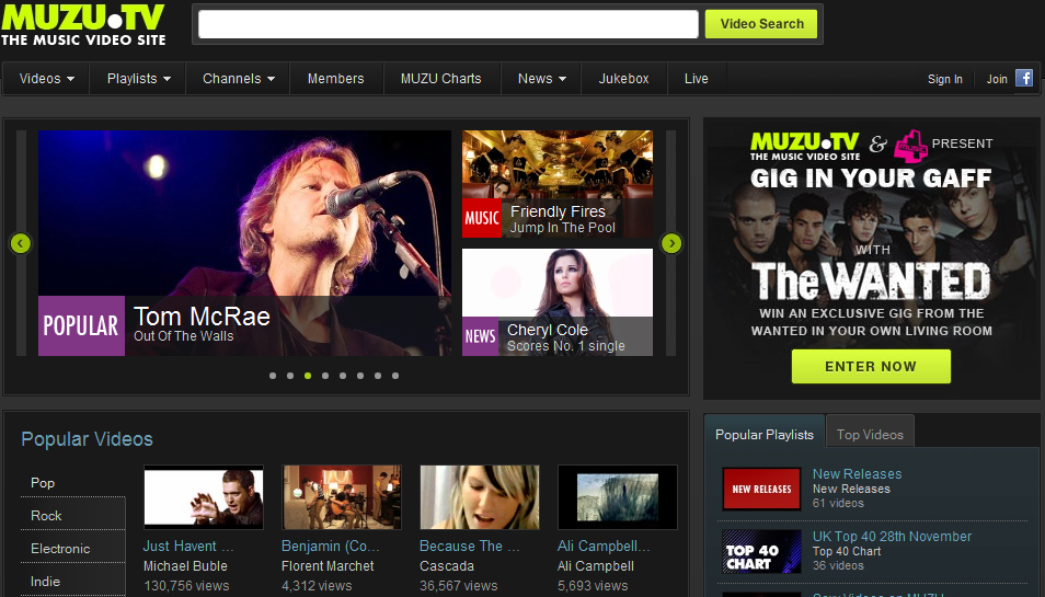 Free Online Music Audio Video Website Muzu Tv Online