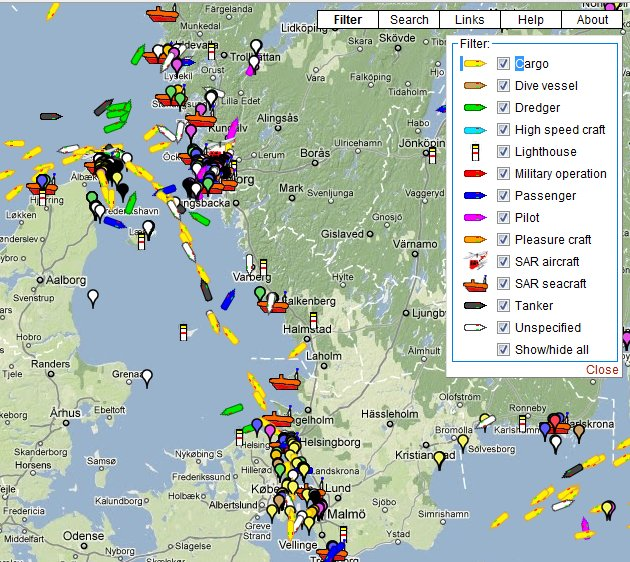 GPS Ship Vessels Tracking Google Maps Locate Ship Position in Sea