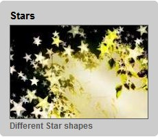 Glittery effects Stars Different Shapes Apply Glittering and Sparkling Effects to Photos Online with Glitterboo
