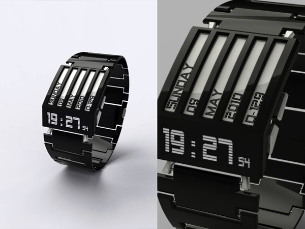 HorodronHD02 Watch HorodronHD 01 Watch with an E Ink Display by Jonathan Frey