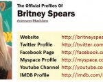 Official profiles of celebrity