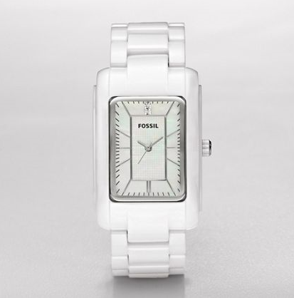 FOSSIL Ceramic Watches Ceramic White MOP Dial Watch CE1031 Ceramic Watches for Women
