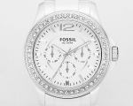 FOSSIL - Ceramic White Multifunction Dial Watch CE1010