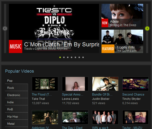 MUZU TV The Free Music Video Site View Music Videos Online with Muzu.tv