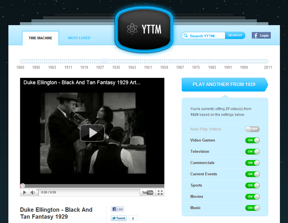 YouTube Time Machine YTTM.tv