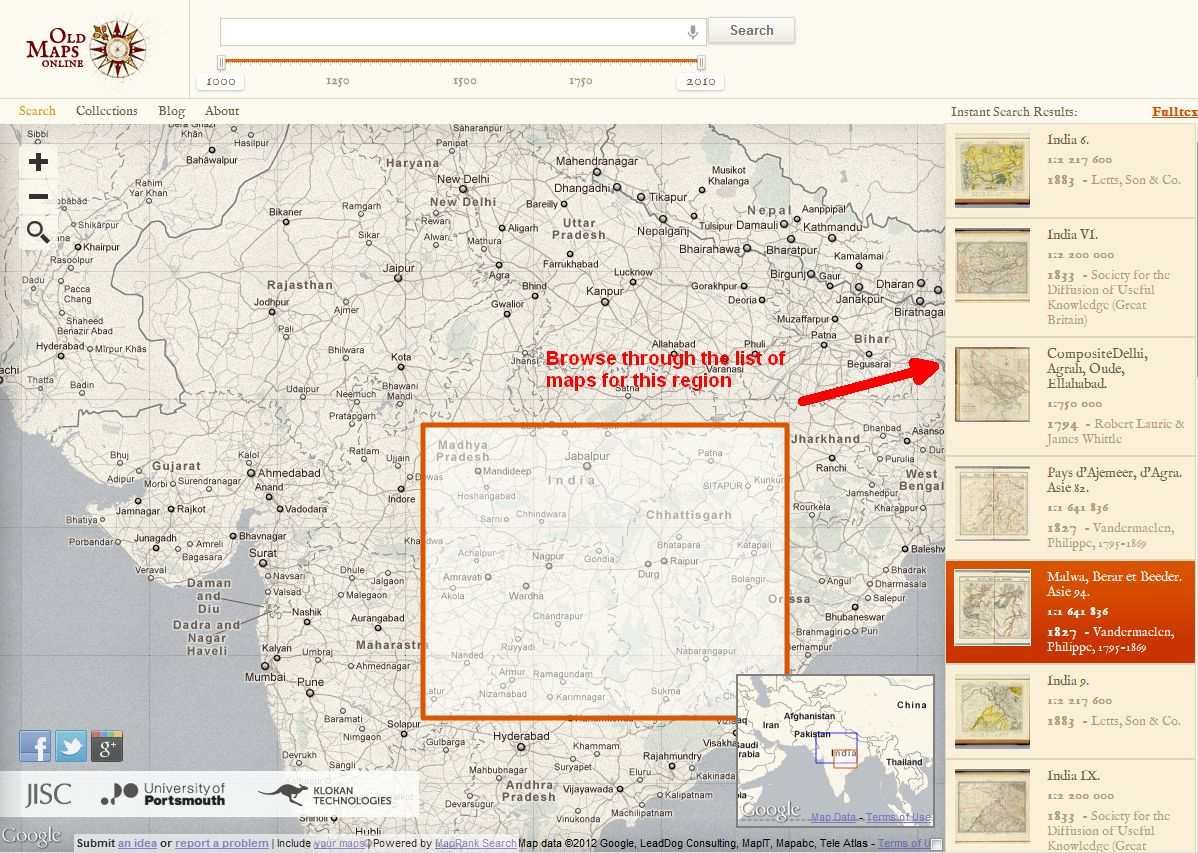 Browse Old maps Online with OldMapsOnline.org